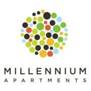 Millennium Apartments logo in Bloomington, Indiana